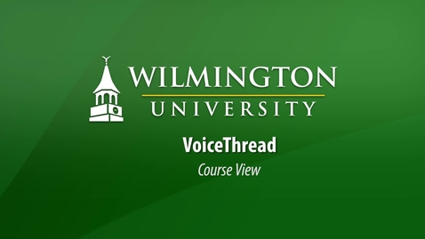 Thumbnail for entry VoiceThread Course View (Canvas)