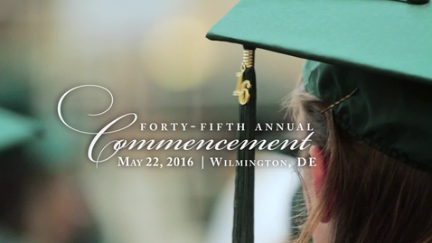 Thumbnail for entry Spring Commencement 2016 Wilmington Highlights
