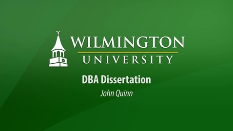 Thumbnail for entry DBA Dissertation - John Quinn
