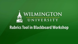 Thumbnail for entry Rubric Tool in Blackboard