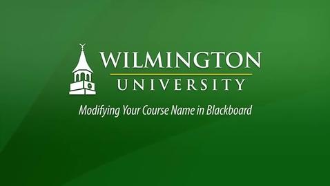 Thumbnail for entry Modifying Course Names