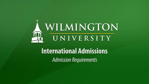 Thumbnail for entry International Admissions Requirements
