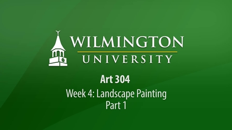 Thumbnail for entry ART 304: Week 4 - Landscape Painting Demonstration Part 1