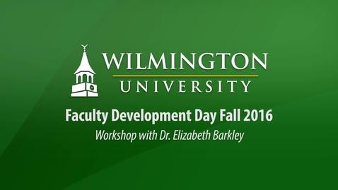 Faculty Development Day Workshop with Dr. Elizabeth Barkley