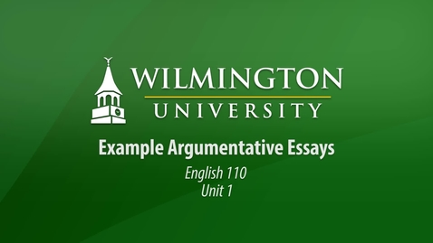 Thumbnail for entry English 110: Unit 1, Lesson 1 Weak Example Argumentative Essay 02 - Talking and Driving