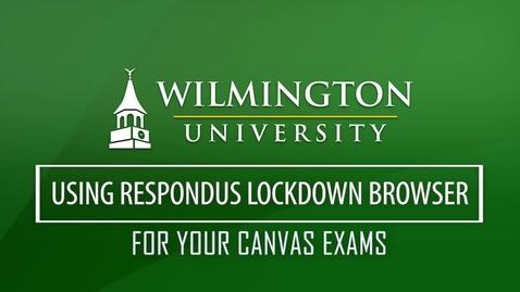 Thumbnail for entry Respondus Monitor