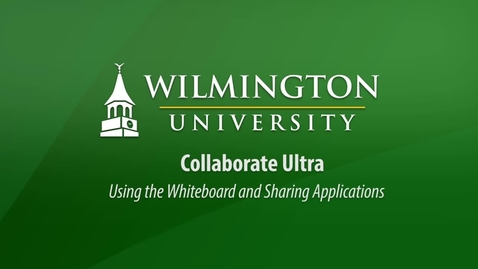 Collaborate Ultra Using the Whiteboard and Sharing Applications