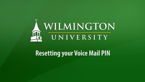Thumbnail for entry Resetting your Voice Mail PIN