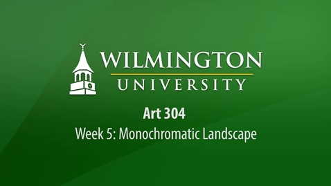 Thumbnail for entry ART 304: Week 5 - Monochromatic Landscape Painting