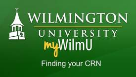Thumbnail for entry MyWilmU-Finding your CRN (Course Reference Number)