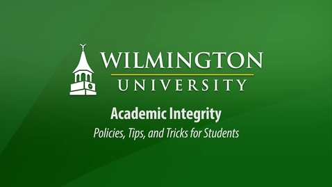 Thumbnail for entry Academic Integrity at WilmU