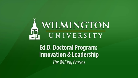 Thumbnail for entry Ed.D. Orientation 2017: The Writing Process