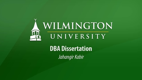 Thumbnail for entry Jahangir Kabir DBA Dissertation