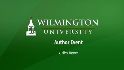 Thumbnail for entry An Author Event with J. Alex Blane