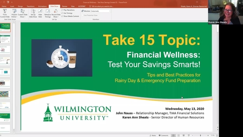 Thumbnail for entry Take15-Financial Wellness:  Test Your Savings Smarts!