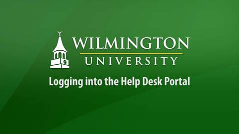 How to Login to the Help Desk Portal