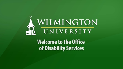 Thumbnail for entry Welcome to the Office  of  Disability Services