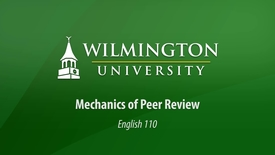 Thumbnail for entry English 110: Mechanics of Peer Review