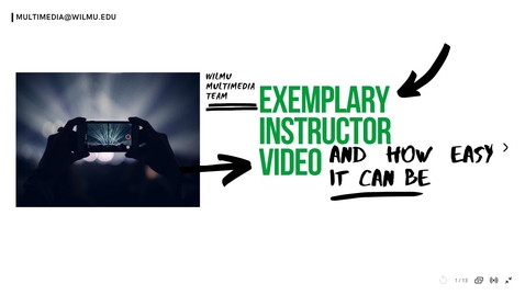 Thumbnail for entry Exemplary Course Content
