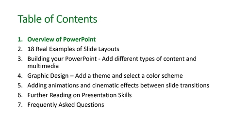 Thumbnail for entry Basic Presentation Tools Video on Demand part 2 - Overview of PowerPoint