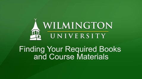 Thumbnail for entry Finding Your Required Books and Course Materials