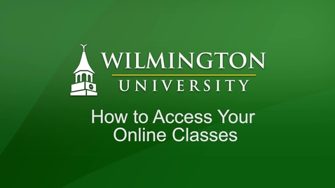 Thumbnail for entry How to Access Your Online Classes