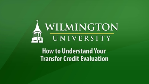 Thumbnail for entry How to Understand Your Transfer Credit Evaluation