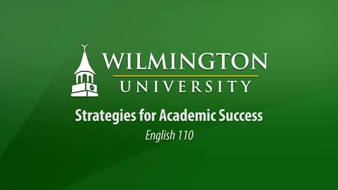 Thumbnail for entry Strategies for Academic Success