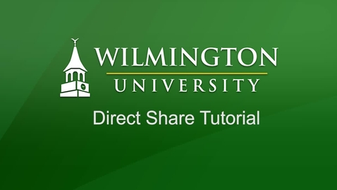 Thumbnail for entry Direct Share Tutorial