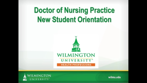 Thumbnail for entry DNP New Student Orientation