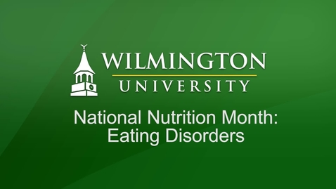 Thumbnail for entry Mental Health Support Seminar - Eating Disorders
