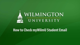 Thumbnail for entry How to Check myWilmu Student Email
