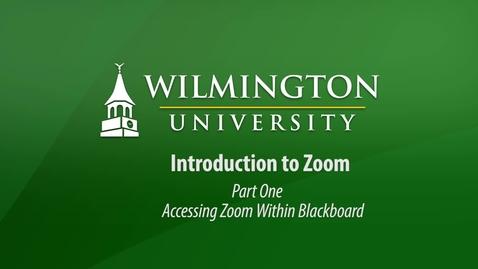 Thumbnail for entry Zoom Part 1 Blackboard