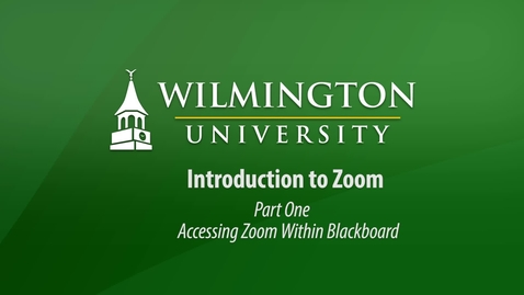 Thumbnail for entry Zoom Part 1 Blackboard