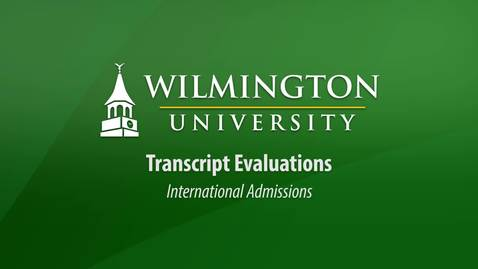 Thumbnail for entry Transcript Requirements for International Admissions Students
