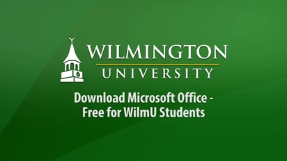 Download Microsoft Office - Free for WilmU Students - WilmUTube