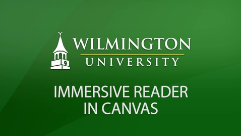Thumbnail for entry Immersive Reader in Canvas