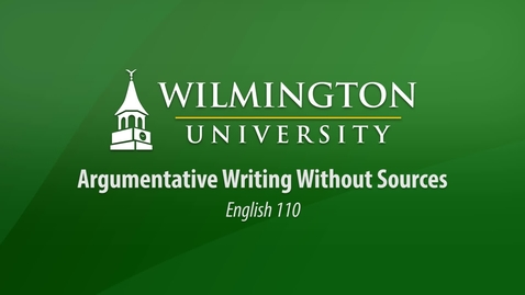 Thumbnail for entry English 110: Unit 1, Lesson 1 Introduction to Argumentative Writing