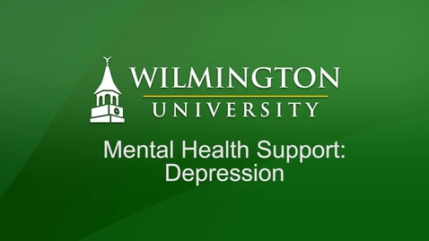 Thumbnail for entry Mental Health Support Seminar - Depression