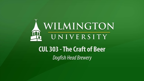 Thumbnail for entry CUL 303:  The Craft of Beer