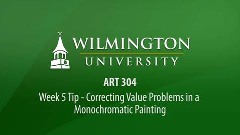 Thumbnail for entry ART 304: Tip - Defining Objects in a Monochromatic Painting
