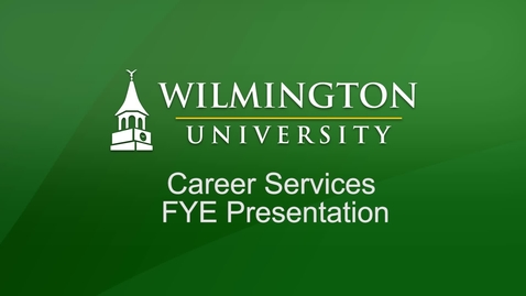 Thumbnail for entry FYE Career Services Presentation