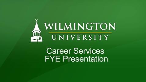 Thumbnail for entry FYE Career Services Presentation