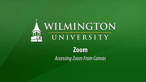 Thumbnail for entry Accessing Zoom From Canvas