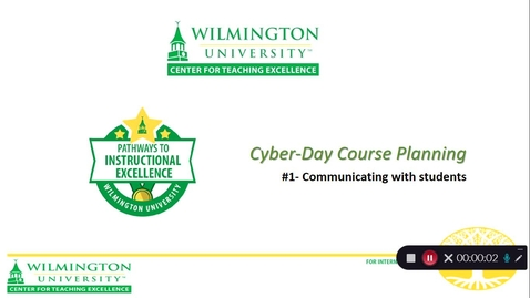 Thumbnail for entry CTE- Cyber-Day #1 Communicating with Students