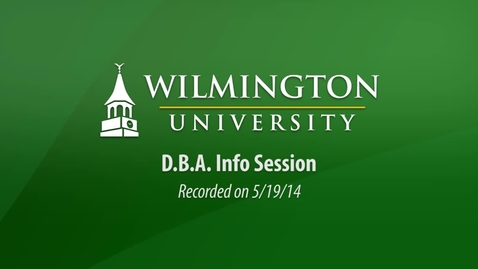 Thumbnail for entry DBA Info Session 5-19-14