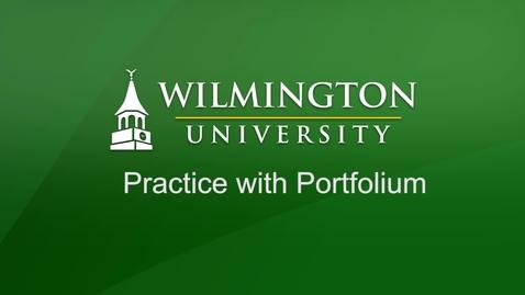 Thumbnail for entry Practice with Portfolium
