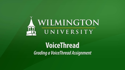 Thumbnail for entry Grading a VoiceThread