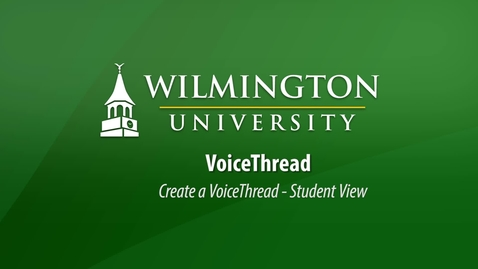 Thumbnail for entry Create A VoiceThread (Canvas) Student View