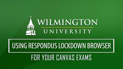 Thumbnail for entry Using Respondus Monitor with LockDown Browser to Complete Exams in Canvas